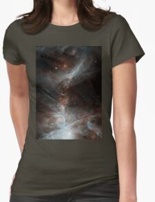 Black Galaxy Womens Fitted T-Shirt