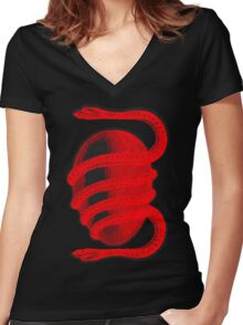 Death Grips Third Worlds Women's Fitted V-Neck T-Shirt