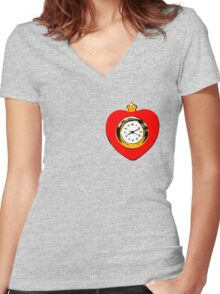 Tin Man Heart Women's Fitted V-Neck T-Shirt