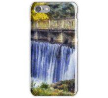 Autumn Waterfall Bridge iPhone Case/Skin