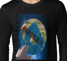 the fragile planet Long Sleeve T-Shirt
