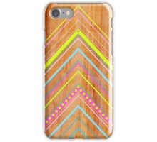 Wooden Chevron Pink iPhone Case/Skin