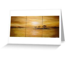 Yellow Sunset Greeting Card