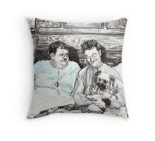 'Laughing Gravy' Throw Pillow