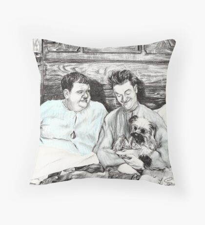 'Laughing Gravy' Throw Pillow