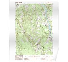 Maine USGS Historical Map Hinckley 105212 1982 24000 Poster