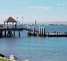 Coronado Pier Panorama by claudiaartdream