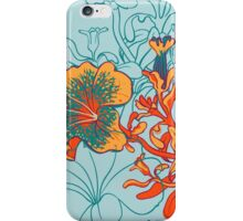 Seamless floral background with peonies iPhone Case/Skin