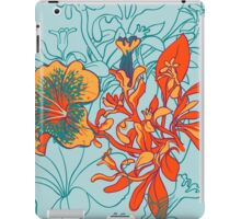 Seamless floral background with peonies iPad Case/Skin
