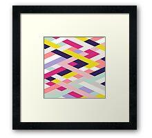 Smart Diagonals Blue Framed Print