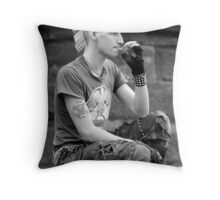 """Ian Lees"" Bass guitarist Throw Pillow"