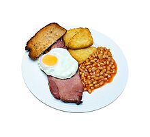 Gammon Egg and Beans Photographic Print