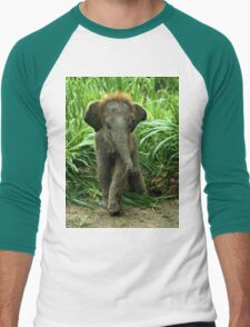 Baby Elephant Men's Baseball ¾ T-Shirt
