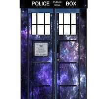 Doctor Who - TARDIS Galaxy Print by Brittney Walker
