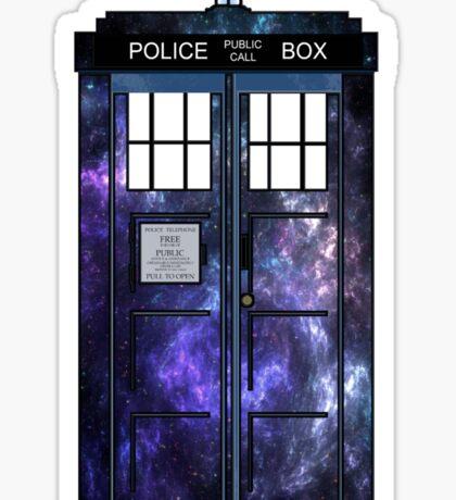 Doctor Who - TARDIS Galaxy Print Sticker
