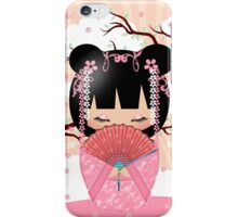 Dream Kokeshi Doll In Pink Cream And Peach Blends iPhone Case/Skin