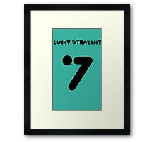 7 Lucky Straight Framed Print