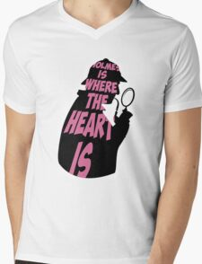 Holmes is where the heart is Mens V-Neck T-Shirt