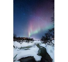Aurora by the creek Photographic Print