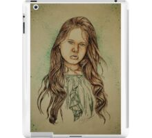 Girl with Green iPad Case/Skin