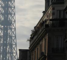 EIFFEL TOWER ON A BLEAK DAY IN PARIS Sticker
