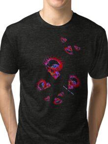 Skulls on fire Tri-blend T-Shirt