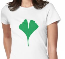 Gingko Leaf Womens Fitted T-Shirt