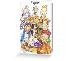 Rejoice -2007 Labour Party Victory Christmas Card Greeting Card