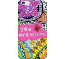 you are beautiful zentangle and mandala iPhone Case/Skin