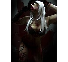 Pose of The Black Rose_Zombiefied Corruption Photographic Print
