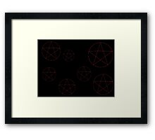 Pentagram Pattern Framed Print