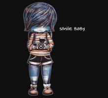 Smile Baby - Retro Tee by © Karin  Taylor