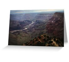 Grand Canyon & Painted Desert stormlight Greeting Card