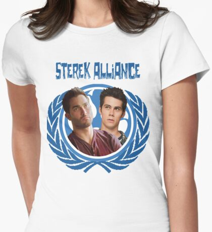 The Ultimate Sterek Alliance II Blue T-Shirt Womens Fitted T-Shirt