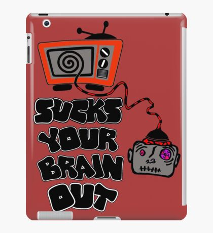 t.v. sucks your brain out mallowcolor iPad Case/Skin