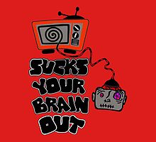 t.v. sucks your brain out mallowcolor by curbstoneacts