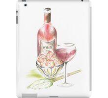 Vino with strawberries iPad Case/Skin