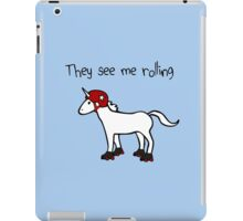 They See Me Rolling - Roller Derby Unicorn iPad Case/Skin