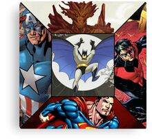 Marvel - DC character crossover pillow Canvas Print