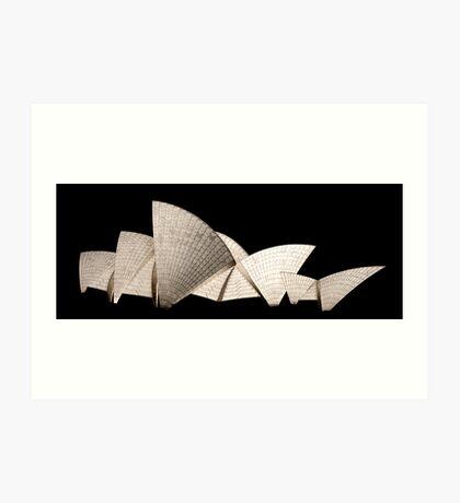 Opera House Sails Art Print