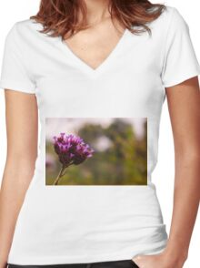 Purple Beauty Women's Fitted V-Neck T-Shirt