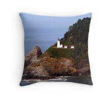 Heceta Head Lighthouse #02 Throw Pillow