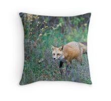 Fox Stalking Throw Pillow