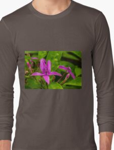 Purple Bloom Long Sleeve T-Shirt