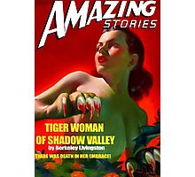 Amazing Stories - Classic Sci Fi Magazine Cover - Reproduction Photographic Print