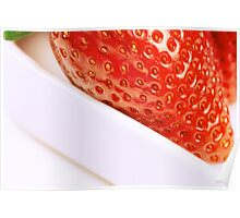 strawberry close up Poster