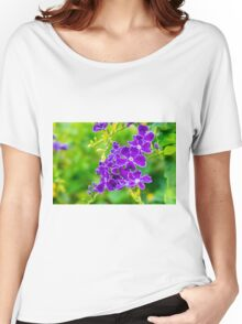 Purple over Green Women's Relaxed Fit T-Shirt