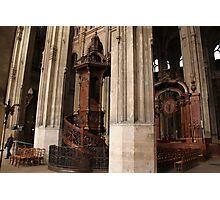 Saint-Eustache pulpit Photographic Print