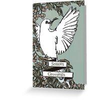 Chritmas Dove Card Greeting Card