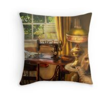 The Domestic Sewing Machine Throw Pillow